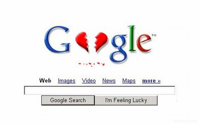 Google Logo designer having Martial Problems (Visual Joke)