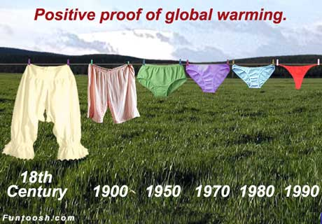 positve proof of global warming - Visual Joke