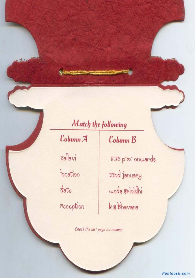 A very Interesting Wedding Invitation - Funtoosh.com