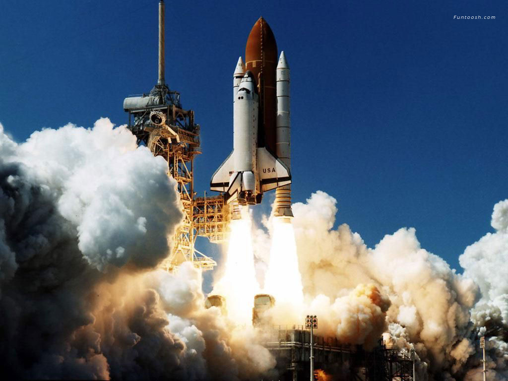 space shuttle taking off - photo #14